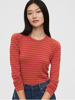 Striped Feather T-Shirt