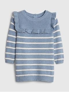 Robe-pull à rayures pour bébé