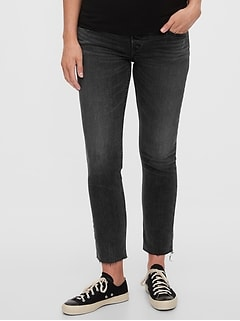 Maternity Full Panel Cigarette Jeans With Washwell™
