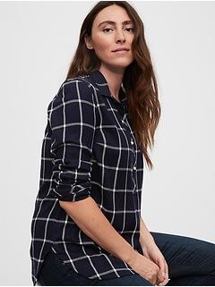 Maternity Plaid Shirt