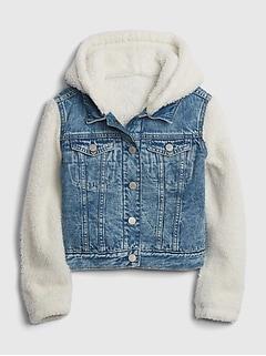 Kids Denim Sherpa Jacket