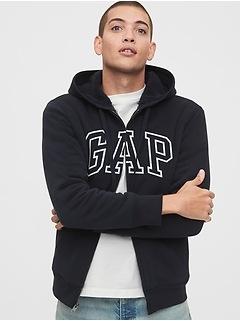 Gap Arch Logo Full-Zip Sherpa Hoodie
