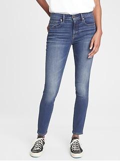 Mid Rise True Skinny Jeans