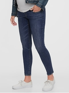 Maternity True Waistband Full Panel Skinny Jeans With Washwell™