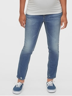 Maternity True Waistband Full Panel Cigarette Jeans With Washwell™