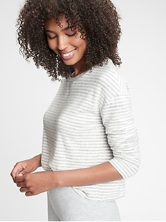 Haut de pyjama en tricot imprimé