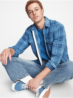 Plaid Worker Shirt in Standard Fit