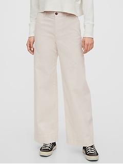 High Rise Wide-Leg Corduroy Pants
