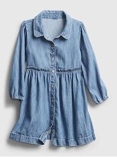 Toddler Denim Shirt Dress