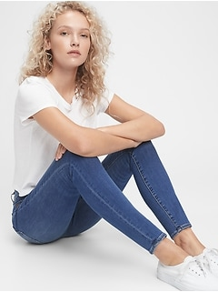 High Rise True Skinny Jeans