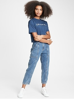 Teen Boxy Graphic Cropped T-Shirt