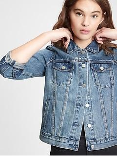 Icon Denim Jacket With Washwell™