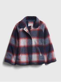 Veste en laine à carreaux pour enfant