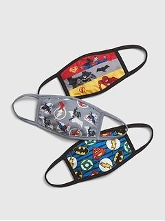 Kids Justice League Face Mask (3-Pack)