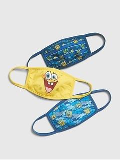 Kids SpongeBob Squarepants Face Mask (3-Pack)