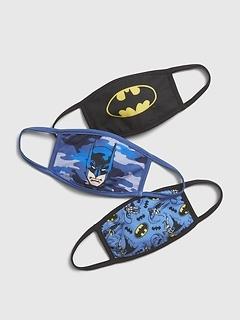 Masque pour le visage Batman pour enfant (paquet de 3)