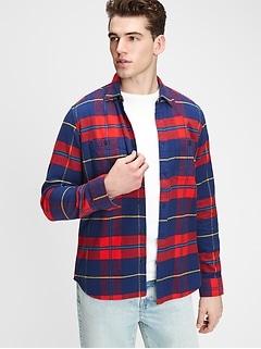 Pocket Flannel Shirt in Standard Fit