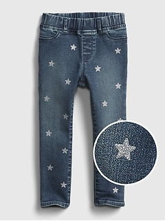 Toddler Glitter Star Pull-On Jeggings with Washwell™