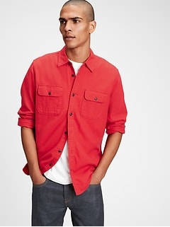 Double Flap Pocket Flannel Shirt in Standard Fit