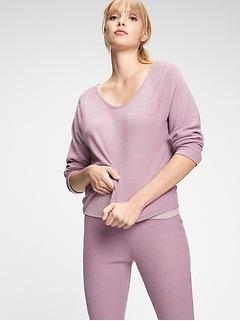 Chemise côtelée en tricot filé doucement