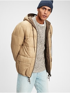 Lightweight Reversible Grid Quilted Puffer Jacket