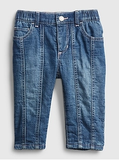 Baby Bubble Lined Pull-On Jeans