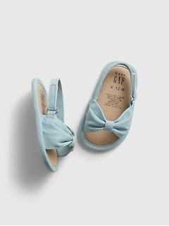 Sandales en cambrai à boucle pour bébé