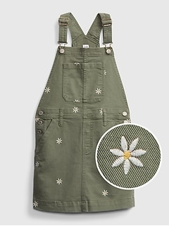 Kids Embroidered Floral Skirtall