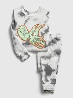 babyGap Glow-In-The-Dark Tie-Dye Dinosaur PJ Set