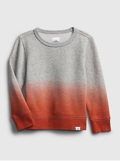 Toddler Recycled Dip-Dye Crewneck Sweatshirt