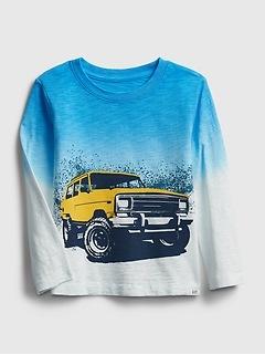 Toddler Dip-Dye Graphic T-Shirt