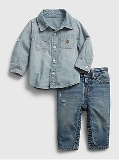 Baby Denim Outfit Set
