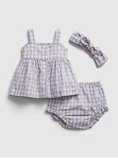 Baby Gingham Outfit Set