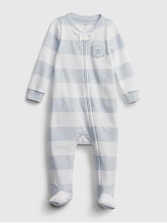 Une-pièce à rayures pour bébé