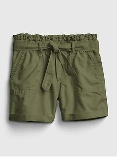 Kids High-Rise Paperbag Waist Shorts