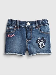 babyGap | Disney Minnie Mouse Denim Shorts with Washwell™