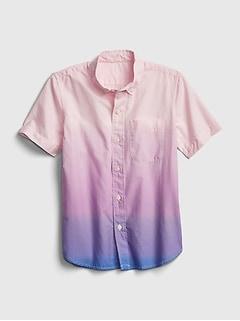 Kids Dip-Dye Poplin Shirt