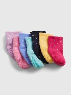 Chaussettes à pois pour Bébé (paquet de 7paires)
