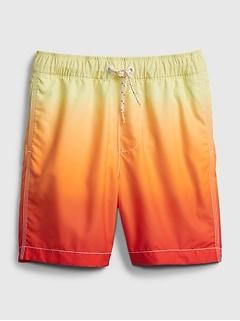 Kids 100% Recycled Polyester Dip-Dye Swim Trunks