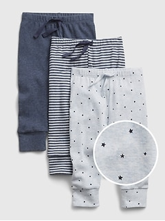 Baby First Favorite Print Pull-On Pants (3-Pack)