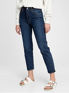 High Rise Cheeky Straight Jeans With Washwell™
