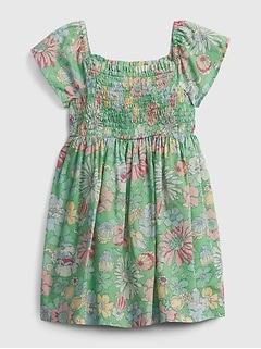 Toddler Smocked Floral Dress