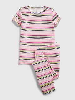 Kids 100% Organic Cotton Stripe PJ Set
