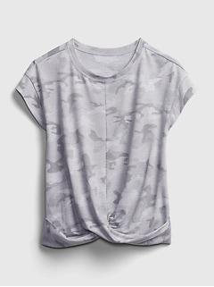 GapFit Kids Recycled  Twist Front T-Shirt