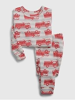babyGap 100% Organic Cotton Fire Truck PJ Set