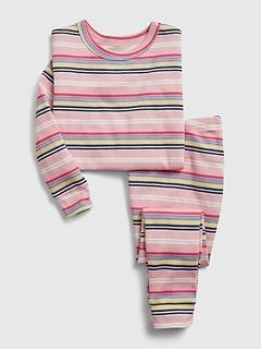 Pyjama en coton biologique à rayures babyGap