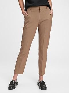 Pantalon étroit à taille haute, longueur à la cheville