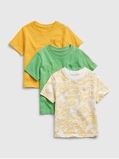 Toddler 100% Organic Cotton Mix and Match T-Shirt (3-Pack)
