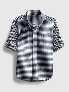 Toddler Gingham Print Shirt