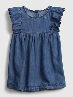 Baby Denim Ruffle Dress